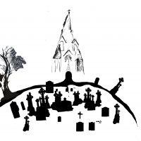 Castle graveyard