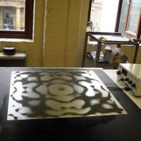 Making the cymatic plate 2