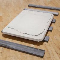 Plaque 2013 jesmonite wood limestone mica
